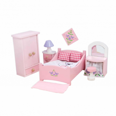 Le Toy Van Sugar Plum Bedroom Wooden Dolls House Furniture