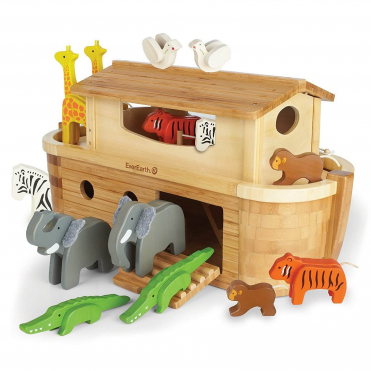 Everearth Giant Bamboo Noah's Ark with Animals