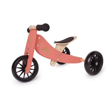 Kinderfeets Tiny Tot Trike 2 in 1 Balance Bike Coral